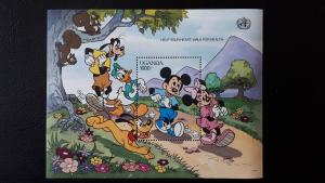 Disney - Uganda 1990. - Health and safety ** MNH Block/1