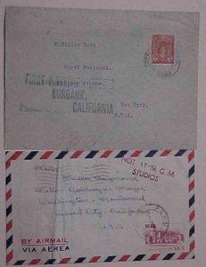 PERU  USA MOVIE STARS BILLIE DOVE,PAULA RAYMOND EACH ONCE OWNED THESE 1938,1950