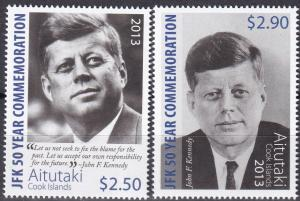 Aitutaki #615-6  MNH CV $9.00  (A19400)
