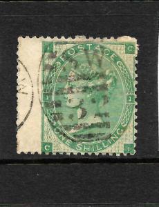 GREAT BRITAIN  1862-74  1/- DEEP GREEN    QV    FU    SG 89