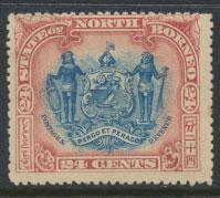 North Borneo SG 111b MH perf 15 see details corrected inscription see scans