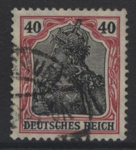 GERMANY. -Scott 87- Definitives -1905 - FU - Single  40pf Lake & Blk  Stamp
