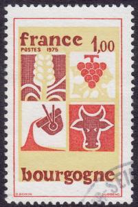 France - 1975 - Scott #1444 - used - Bourgogne
