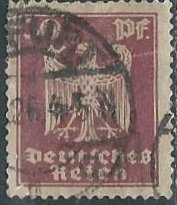 Germany 334 (used) 30p eagle, rose lilac (1924)