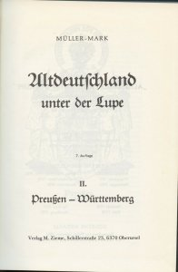 Germany, Mueller Mark, 1985 Altdeutschland unter der Lupe, in German, Vol. II