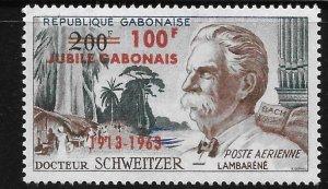 Gabon 1963 Arrival of Dr Albert Schweitzer Surcharged Sc C11 MNH A203