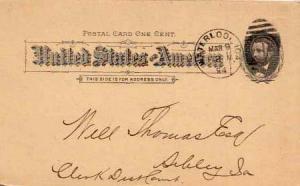 United States, Government Postal Card, Iowa