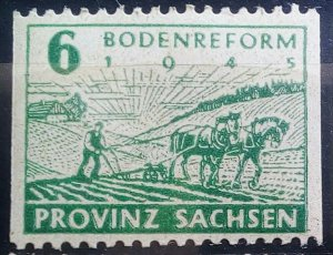 Germany Provinz Sachsen 85 Wa B Double print mnh
