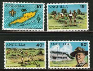 Anguilla (1970) Sc#95-98 Boy Scouts, 40th Anniversary MNH