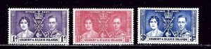 Gilbert and Ellice 37-39 MVLH 1937 KGVI Coronation