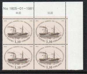 Finland Sc 654 1981 NORDIA 81 stamp block of 4 mint NH