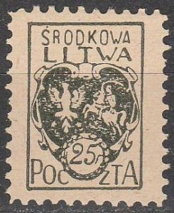 Central Lithuania #2 F-VF Unused   (S9029)