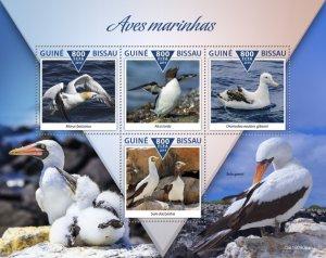 GUINEA BISSAU - 2019 - Sea Birds - Perf 4v Sheet - M N H