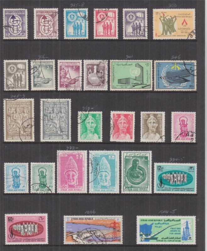 SYRIA, 1964-1973 Huge Accumulation, some better, lhm., used,