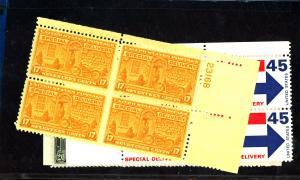 E18-22 MINT Plate Blocks F-VF OG NH Cat $34