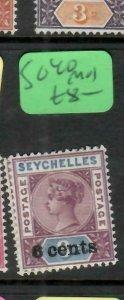 SEYCHELLES  (P2605B)  QV 6C/8C        SG  40   MOG