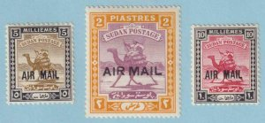 SUDAN C1 - C3 AIRMAILS  MINT HINGED OG * NO FAULTS EXTRA FINE! - Y301
