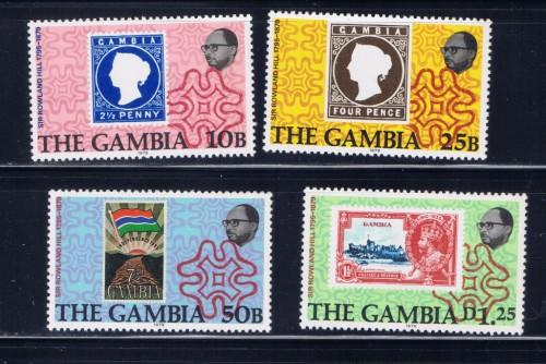 Gambia 394-97 NH 1979 Sir Roland Hill set
