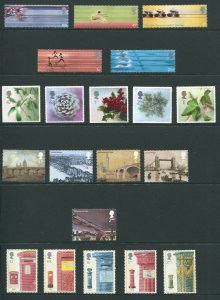 GB Great Britain 2002 Commemorative Sets - 11 Sets, 2 Sheets 74 Stamps, NH UMM