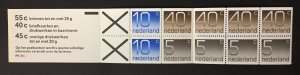 Netherlands 1976 #536b Booklet, Numerals, MNH.