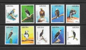 BIRDS - ARUBA #395a-j  MNH