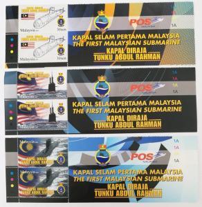 Malaysia 2 sets of # 1266-8 1st Malaysian Submarine Stamps MNH
