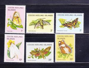 Cocos Islands 87-90, 94, 98 MNH Insects, Butterflies (A)