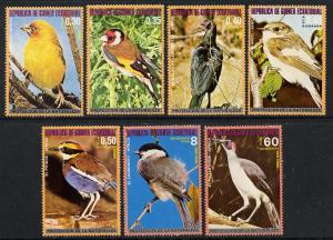 Equatorial Guinea 1976 African Birds perf set of 7 unmoun...