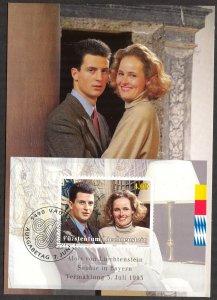 Liechtenstein 1993 Royal Family Maxi Card FDC