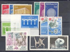 Monaco lot of Europa issues Mint NH  VF