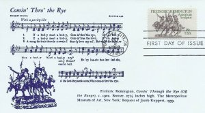 1934 18c FREDERICK REMINGTON - Unknown cachet #1