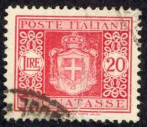 Italy Sc# J64 Used (wmk 277) 1945-1946 20l Postage Due