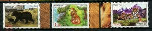 Tajikistan 2013 tigers fox bear animals  set MNH