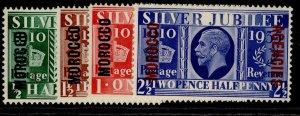 MOROCCO AGENCIES GV SG62-65, SILVER JUBILEE set, NH MINT. Cat £16.