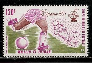 Wallis and Futuna Islands C110A 1982 World Cup single MNH