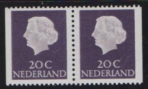 Netherlands 1968 MNH  from booklet   2 x 20ct