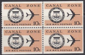Canal Zone Sc #C48a MNH Booklet pane of 4