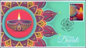 CA20-035, 2020, Diwali, Pictorial Postmark, FDC