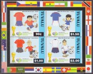 2006 Tuvalu 1263-66KL 2006 World championship on football Germania 10,50 €