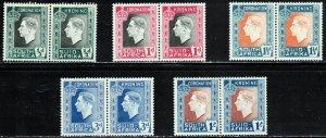 South Africa - 1937 -, Coronation , MNH Pair set # 74-78