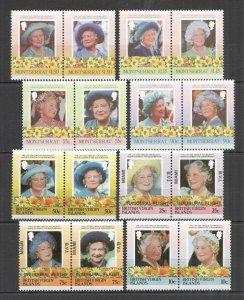 I1403 BRITISH VIRGIN ISLANDS MONTSERRAT HER MAJESTY QUEEN ELIZABETH II 2SET MNH