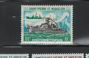 ST. PIERRE & MIQUELON 1971 SHIPS #411 USED $20.00