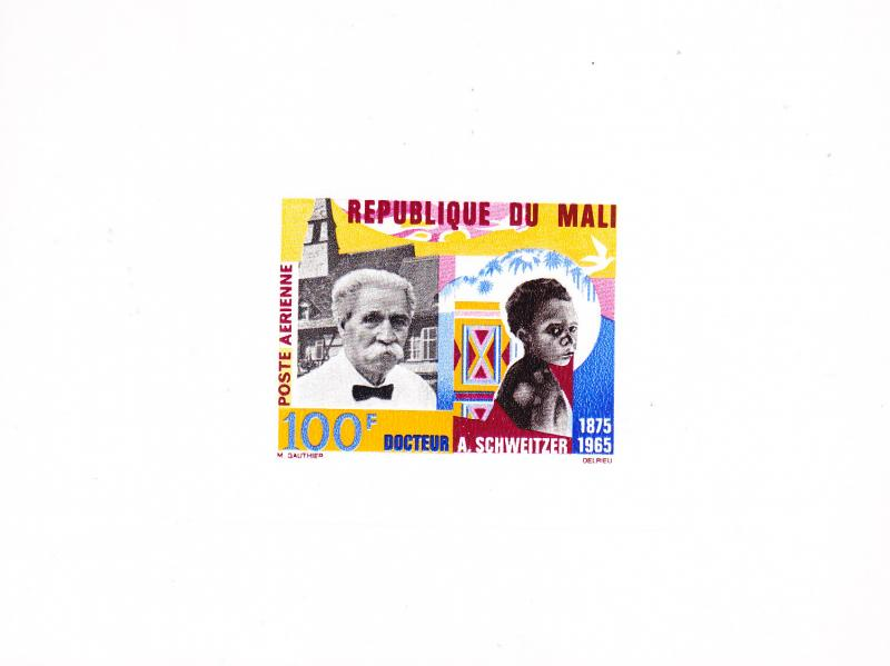 Mali 1965 Airmail. Dr. Albert Schweitzer Deluxe Color Proof   VF