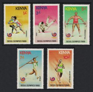 Kenya Judo Handball Weightlifting Olympic Games Seoul 5v SG#467-471