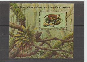 St. Thomas & Prince Islands  Scott#  604  MNH  S/S  (1981 Mammals)