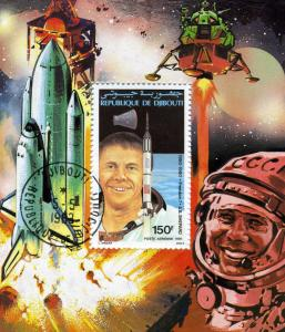 SPACE ASTRONAUT A.B. Shepard s/s Perforated Fine Used