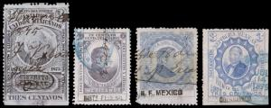 Mexico Revenue Stamps (1874-79) Used Hinged Fine