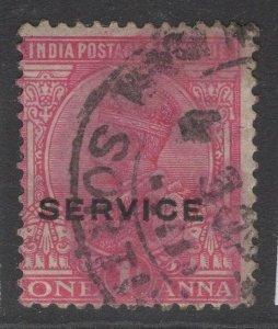 INDIA SGO82 1912 1a ANILINE-CARMINE USED