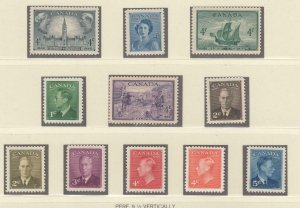CANADA MNH 1 MH 1MNG KGV1 COILS + EXTRAS APPROX CAT VALUE $60+