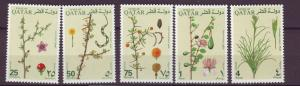 J20890 Jlstamps 1991 qatar hv,s of set mnh #748-52 plants